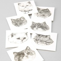 Harriet Gray Cat Temporary Tattoos - Urban Outfitters
