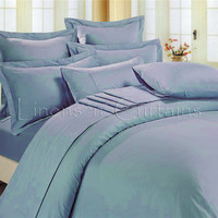 Solid Sheet and Duvet Cover Set 7 pc, Egyptian Cotton Bedding 1000 Thread Count in All Sizes