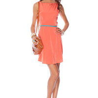 Riley Tank Dress in Orange :: tobi