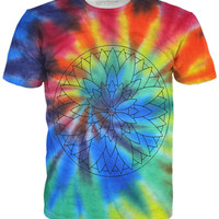 Psychedelic tie-dye LSD hippie trance shirt, 10 % off coupon code: 030609
