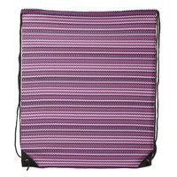Chevron purple pattern Drawstring Backpack