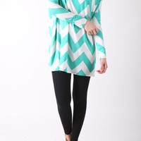 Spring Chevron Tunic Top