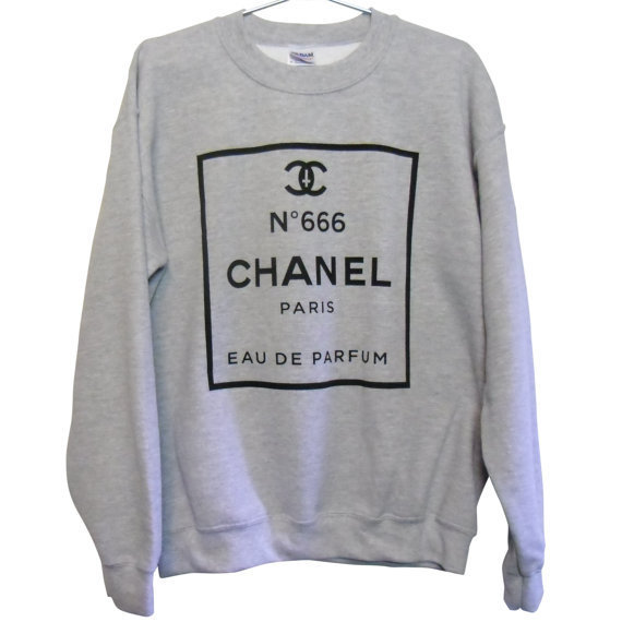 CHANEL No 666 Sweatshirt Select Size by killercondoapparel on Etsy