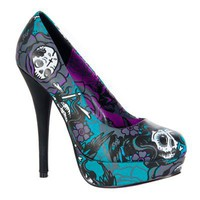 Iron Fist CROSSWINDS Platform Skull Pumps - Iron Fist Shoes