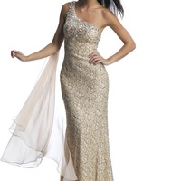 Dave & Johnny 10339 Lace One Shoulder
