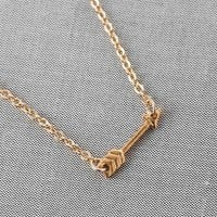 STRAIGHT AS AN ARROW PENDANT NECKLACE