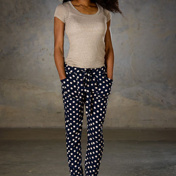 Polka Dot Parachute Pants - SexyModest Boutique