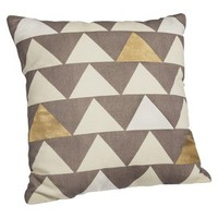 "Nate Berkus™ Decorative Pillow 18"" - Silver Triangles"