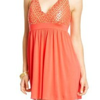 2b Tami Sequin Halter Dress