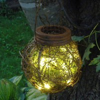 2 Rustic Outdoor Firefly Lantern Woodland by BriannaPaigeDesigns