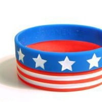 Skinny STARS AND STRIPES Bracelet Pair