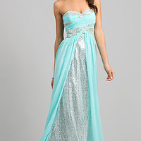 Sequin Gown with Sweetheart Neckline by Bari Jay