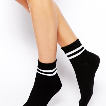 ASOS | ASOS 2 Stripe Ankle Sock at ASOS