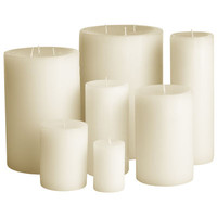 Unscented Candles - Ivory