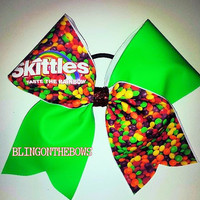 Taste the rainbow CHEER bow