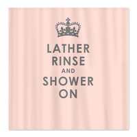 Lather, Rinse and Carry on Pink Shower Curtain