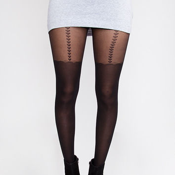 Heart on the Line Tights - One