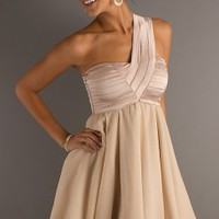 One Shoulder Short Cocktail Party Dress - Basadress.com