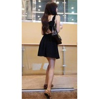 Bqueen Black Harness Dress CZ011H - Designer Shoes|Bqueenshoes.com