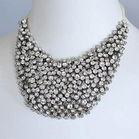 BERTHE bib crystal necklace by portobello on Etsy