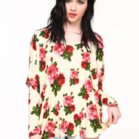 ROSE GARDEN OVERSIZED TOP