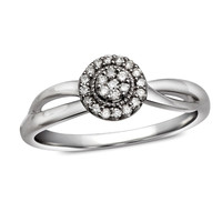 Cherished Promise Collection™ 1/10 CT. T.W. Diamond Frame Promise Ring in Sterling Silver - Size 6 - View All Rings - Zales