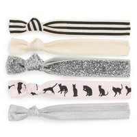 Kitsch 'The Cat's Meow' Hair Ties (5-Pack) (Girls) | Nordstrom