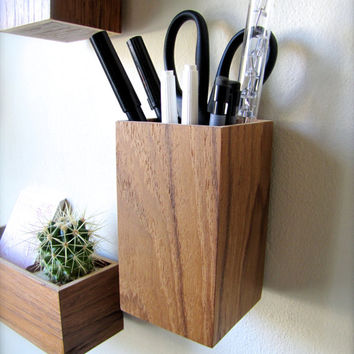 hanging organizer pencil holder from thewoodybeckers on etsy. Black Bedroom Furniture Sets. Home Design Ideas
