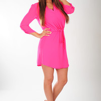 Be All Mine Dress: Hot Pink