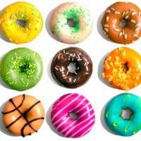 Frosted Doughnuts - wall art decals peel and stick self adhesive