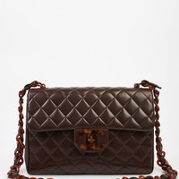 Chanel Brown Single Flap Jumbo Bag