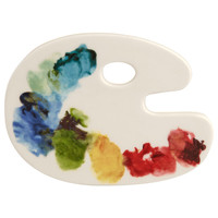 Fishs Eddy Artist Palette Ceramic Coaster | Kitchen Accessories by Fishs Eddy | Liberty.co.uk