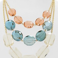 Guinevere Crystal Triple Strand Necklace