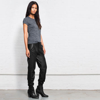 Pajama Jean - Black Leather | rag & bone Official Store