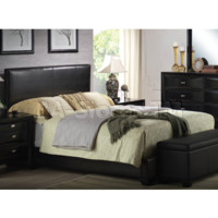 Ireland Black Leather like Bycast Button Tufted Bed | Beds AF-14445T/5