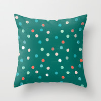 dots Throw Pillow by Grace