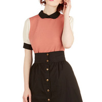 ModCloth 80s Short Length A-line Curry Your Enthusiasm Skirt in Black