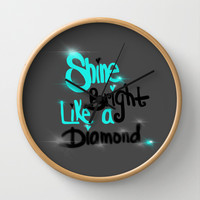Diamonds Are A Girl's Bestfriend Wall Clock by Intrinsic Journeys