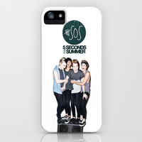 5 Seconds Of Summer iPhone & iPod Case by Amber Rose