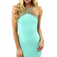 Gilded Sequin Bodycon