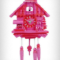 Modern Vintage Pink Cuckoo Clock | PLASTICLAND