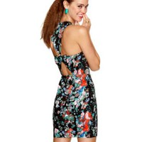 Material Girl Dress, Sleeveless Floral Print Bow Tie Cutout - Macy's