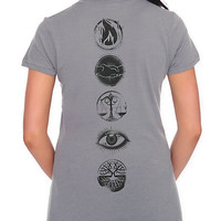 Divergent Five Factions Girls T-Shirt