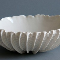 Small Scallop Bowl by elementclaystudio on Etsy