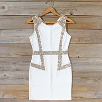 Sunset Stars Dress in White