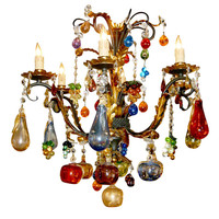 D & G Antiques - Murano Chandelier - 1stdibs