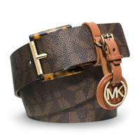MICHAEL Michael Kors Logo Belt with Medallion