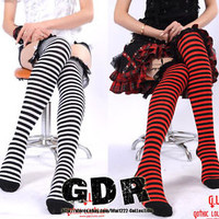 2 STYLE ! GLP Gothic Lolita Punk Rhombus FRAG Knee-Hi Stockings 342