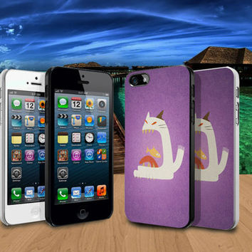 The Cat Returns Minimalist Design iPhone 4/4S / 5/ 5s/ 5c case and Samsung Galaxy S3/ S4 case