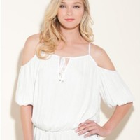 GUESS Katie Cold-Shoulder Top
